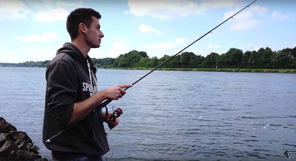 Ruten Haltung beim Zander angeln