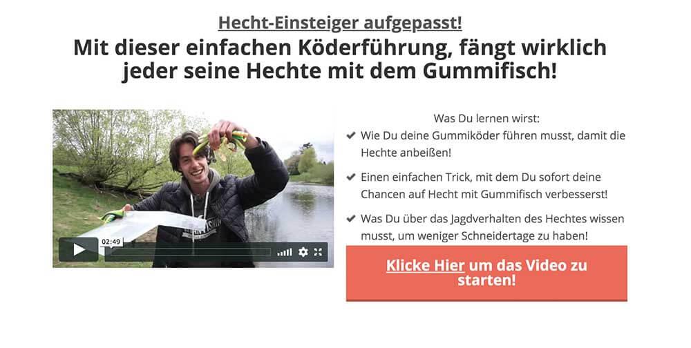 Hecht Fangen Köderführung Video