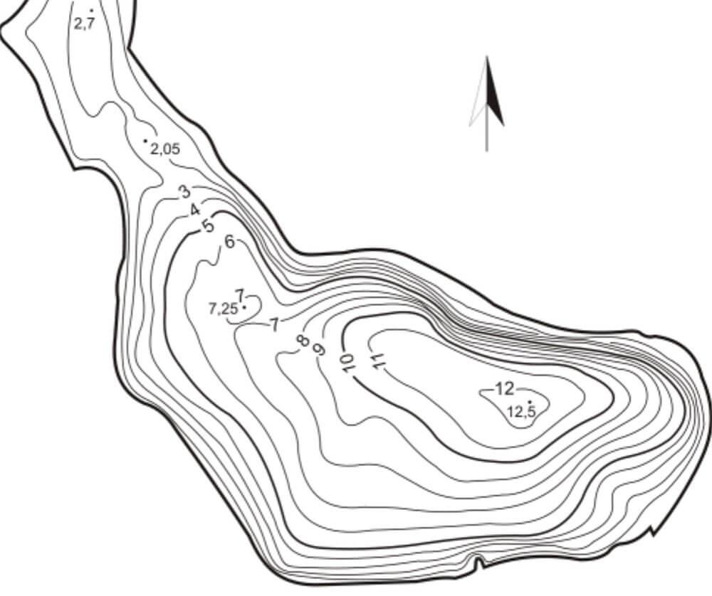 Tiefenkarte Zanderangeln vom Ufer
