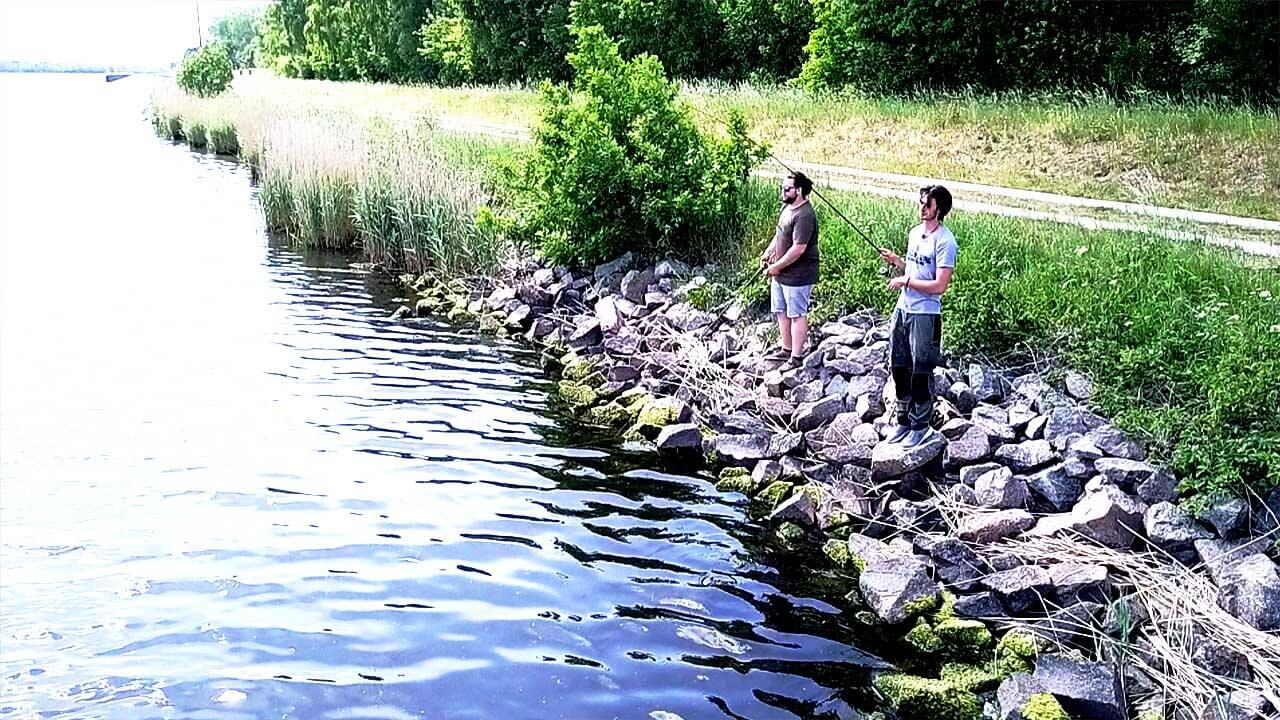 Zanderangeln vom Ufer