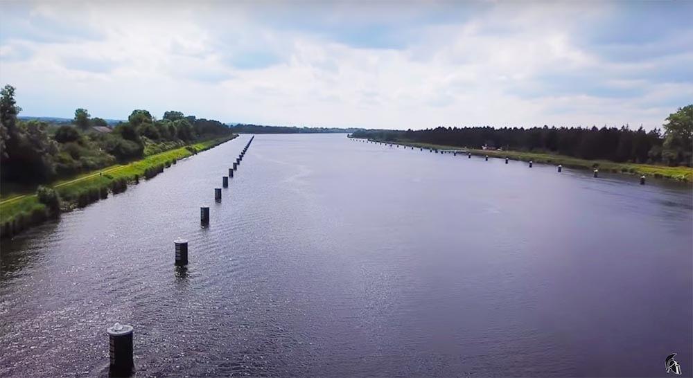 Zanderangeln am Kanal Schiffsanleger