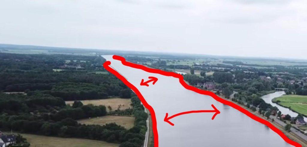 Zanderangeln am breiten Kanal