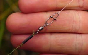 Stahlvorfach Spinnfischen Montage