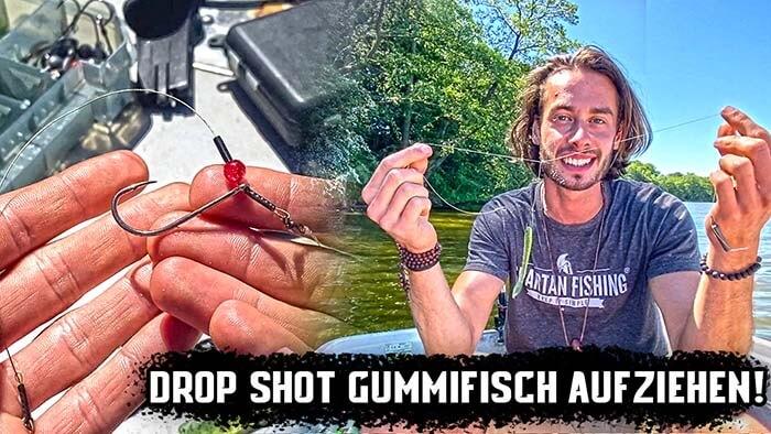 Drop Shot Gummifisch aufziehen